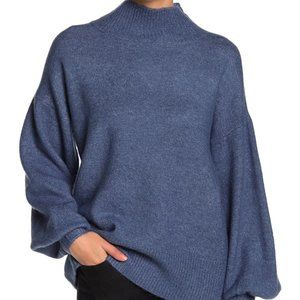 Vince Camuto Mutton Sleeve Mock Neck Sweater Dusk